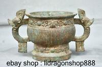 Brûleur d'encens de 9,6 po en porcelaine de Chine ancienne dynastie en bronze