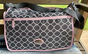 Baby Boom Girl Messenger Diaper Bag Nursery Maternity Pink Gray Insulated Pocket