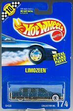 Hot Wheels No. 174 Limozeen Blue Metal Flake w/WW's Speed Points MOC 1992