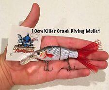 """""""Killer Crank"""" 10cm Diving Mullet Swimbait Fishing Lure  25g Murray Cod"""