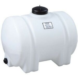 35 Gallon Horizontal Plastic Water Storage Container Tank Norwesco 45223