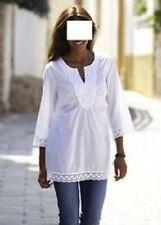 3/4 Arm Damenblusen, - tops & -shirts mit V-Ausschnitt und Spitze