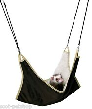 Cosy Hammock Bed Ferret Rat Chinchilla Sleeping Pad Brown 45 x 45
