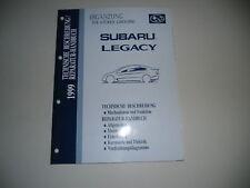 Werkstatthandbuch Ergänzung Subaru Legacy 4-Türer 1999