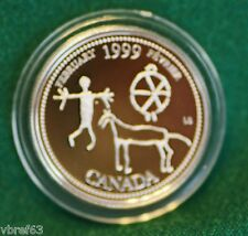 1999 CANADA Millennium Sterling Silver Quarter for February in proof finish