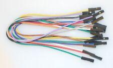 "0.1"" 2.54MM Jumper Wires Female-Female F/F multi-colors x 10PCs"