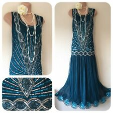 NWT Joanne Hope Sequin Beaded Embellished Dress 20's Gatsby in 24 Deco Flapper