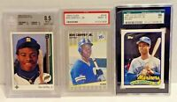 Ken Griffey Jr. 1989 Graded RC (3) Lot Upper Deck #1 BGS, Fleer 548,Topps 41T