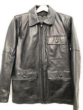 Mark New York Andrew Marc Bakers Calfskin Leather Jacket Coat Size M