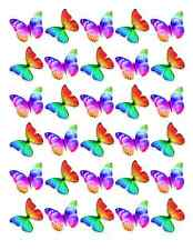 30 x Multi Colour Butterflies Cupcake Toppers Edible Wafer Paper Fairy Cake