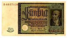 Germany … P-172 … 50 Rentenmark … 1934 … ch*Vf-Xf*.