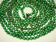 Old Petite Christmas Green Feather Tree Mercury Glass Bead Garland #11