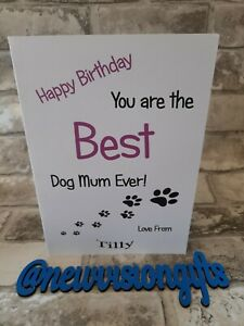 Personalised Happy Birthday Card from The Dog Best Mum Ever!