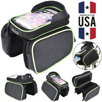 Bike Bicycle Cycling Accessories Bag Top Tube Pouch Waterproof Cell Phone