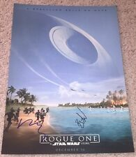 DONNIE YEN & RIZ AHMED SIGNED AUTOGRAPH STAR WARS ROGUE ONE 12x18 PHOTO w/PROOF