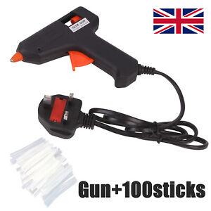 Hot Melt Mini Glue Gun Electric with 100 Adhesive Glue Sticks Hobby Craft DIY