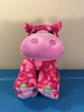 "12"" Pudgie Pink Sparkle Hippo Hippopotamus Bean Plush by K&M Wild Republic"