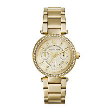 Michael Kors Watch Ladies Stainless Steel Mini Parker Gold Crystal MK 6056 NEW