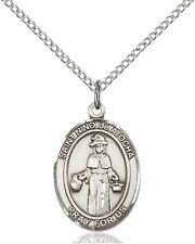 Sterling Silver Saint Nino de Atocha Medal Pendant, 3/4 Inch
