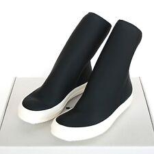 RICK OWENS DrkShdw black scuba sock sneakers SS16 shoes neoprene boots 40/7 NEW
