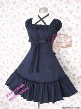 Cosplay Lolita Sweet Love Kawaii Light Deep Blue Princess Dress