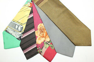 LOT OF 5 DOLCE & GABBANA  silk ties MADE IN ITALY. F17932