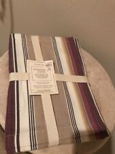 Williams-Sonoma 100% Cotton Herringbone Striped Placemats - Set of 4 NEW