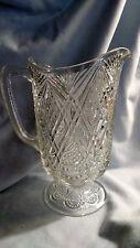 EAPG - Beatty-Brady Glass Co. Spiraled Triangle Pitcher - Pattern #106