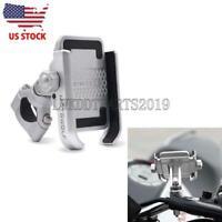 Silver Cell Phone Holder For Honda Shadow ACE Aero Sabre Spirit VLX VT 750 1100