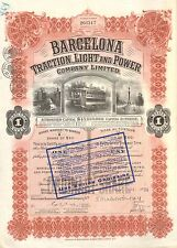 Barcelona Traction, Light and Power Company, accion, 1927, 50 USD, capital 45