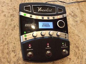 Digitech Vocalist Live FX Harmony Vocal Pedal w/power supply