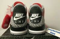 "2020 Nike Air Jordan 3 Retro SE ""Nike Chi"" Fire Red Cement CU2277-600 Size 8.5"