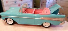 Vintage Barbie 57 Chevy Bel Air Convertible Car-1988-Turquoise/Pink
