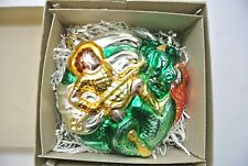 Patricia Breen Designs St George the Dragon #9546, Hand Blown Ornament
