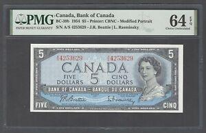 Canada 5 Dollars 1954 BC-39b Uncirculated Grade 64