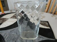 Vintage Swedish SEA Square Form Vase with Cross Hatching