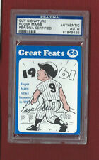 ROGER MARIS AUTOGRAPH PSA/DNA CERTIFIED AUTO 1972 Laughlin Great Feats Signed