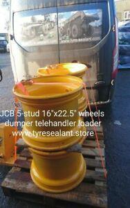 """JCB 16""""x22.5"""" 5-stud Wheels suitable for 9T Dumper Telehandler Loader set of 4"""