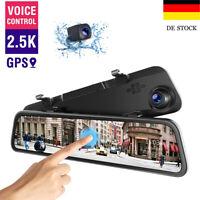 "TOGUARD 12"" Auto DashCam 2.5K Touch Rückfahrkamera Recorder Camcorder Kamera GPS"