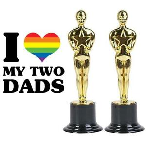 My Two Dads Happy Fathers Day Trophies LGBT Equality Parent Special Love Award