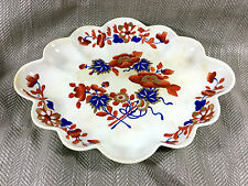 Antique Bloor Derby Bowl Dish Imari Early Victorian 1820s Hand Painted