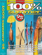 Various 100% Summer 95 CASSETTE ALBUM 20TRACKS Bananarama B-52's Clock Scatman