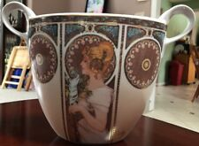 "8"" Vase Goebel Artis Orbs Germany Mucha Bild Kunst Bonn 2000 Feather 1899 LE"