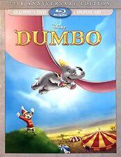 NEW Dumbo Blu-ray + DVD + Digital HD (Walt Disney 75th Anniversary Edition)
