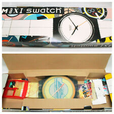 Vtg 90s Swatch Watch Maxi Postcard 1992 In Box Rare Wall Size GN127 Complete
