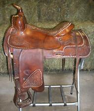 "Tex Tan Genuine Leather Ranch Pleasure or Trail Western Horse Saddle 14.5"" FQHB"