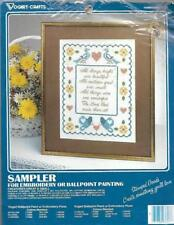 Creatures Great & Small Vogart Crafts Stamped Sampler Fabric with Instructions