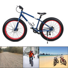 Ridgeyard Alu 26 Zoll 7 Gang MTB Fat Tyre Mountainbike Snow Bike Fat Rad Cruiser
