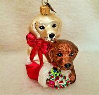 Neiman Marcus  2014 LABRADOR RETRIEVER Dogs - Blown Glass Ornament w/ Tag