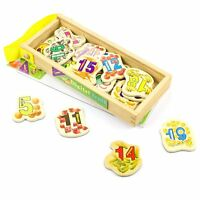 Wooden Mathematics Numbers Magnetic Stickers  23 Pieces Magnets Kids Toy Gift
